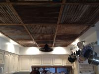 tin+ceiling   steel and wood ceiling posted in walls ...