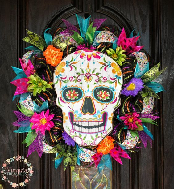 Day of the Dead Wreath Dia de Los Muertos by