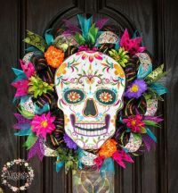 Day of the Dead Wreath Dia de Los Muertos by