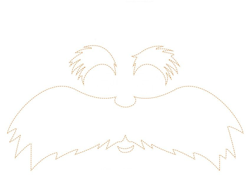It's just a picture of Fabulous Printable Lorax Mustache and Eyebrows