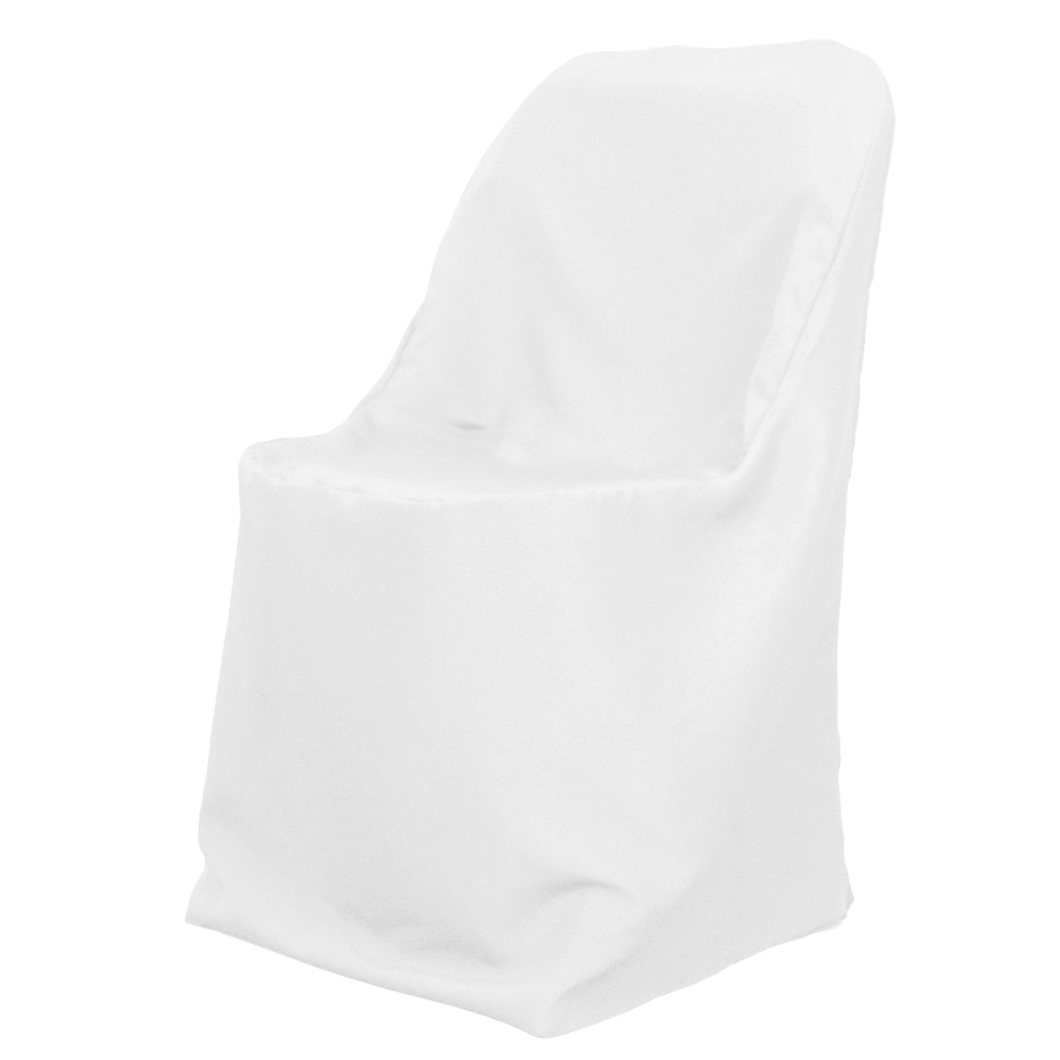 chair covers for folding chairs wedding steel three seater dress up the drab with polyester a white buy weddings and events poly cover transforms ordinary into stylish decor