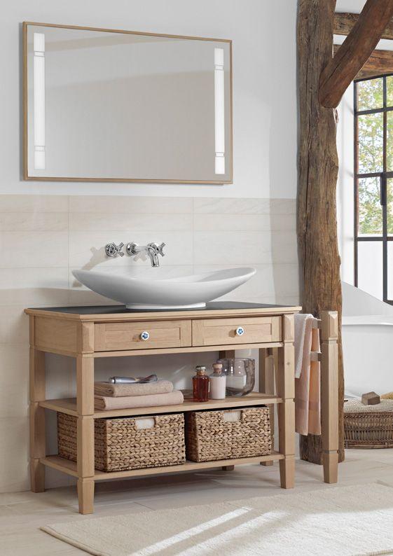 un brin rustique ce meuble sous lavabo 100 x 77 x 55 cm