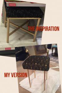 Vanity stool DIY. IKEA Marius stool turned black and gold ...