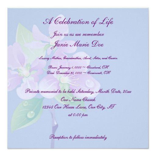 Celebrate Life Memorial Service Template Blank