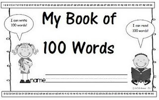 My Book of 100 Words. Last week I asked the kiddos if they