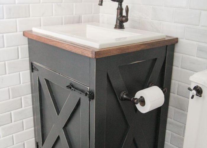 Diy farmhouse bathroom vanity also vanities and