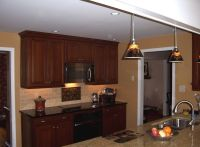caramel colored kitchen cabinets