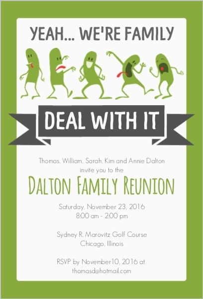 40th Class Reunion Invitations Template