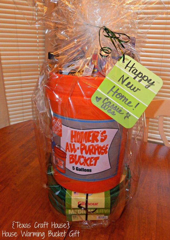 Texas Craft House House Warming Bucket Gift Great Idea For A
