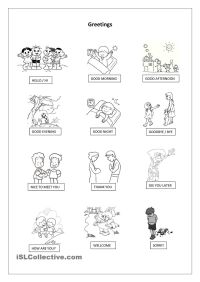 Greetings Pictionary | UNIT 1 | Pinterest | Worksheets ...