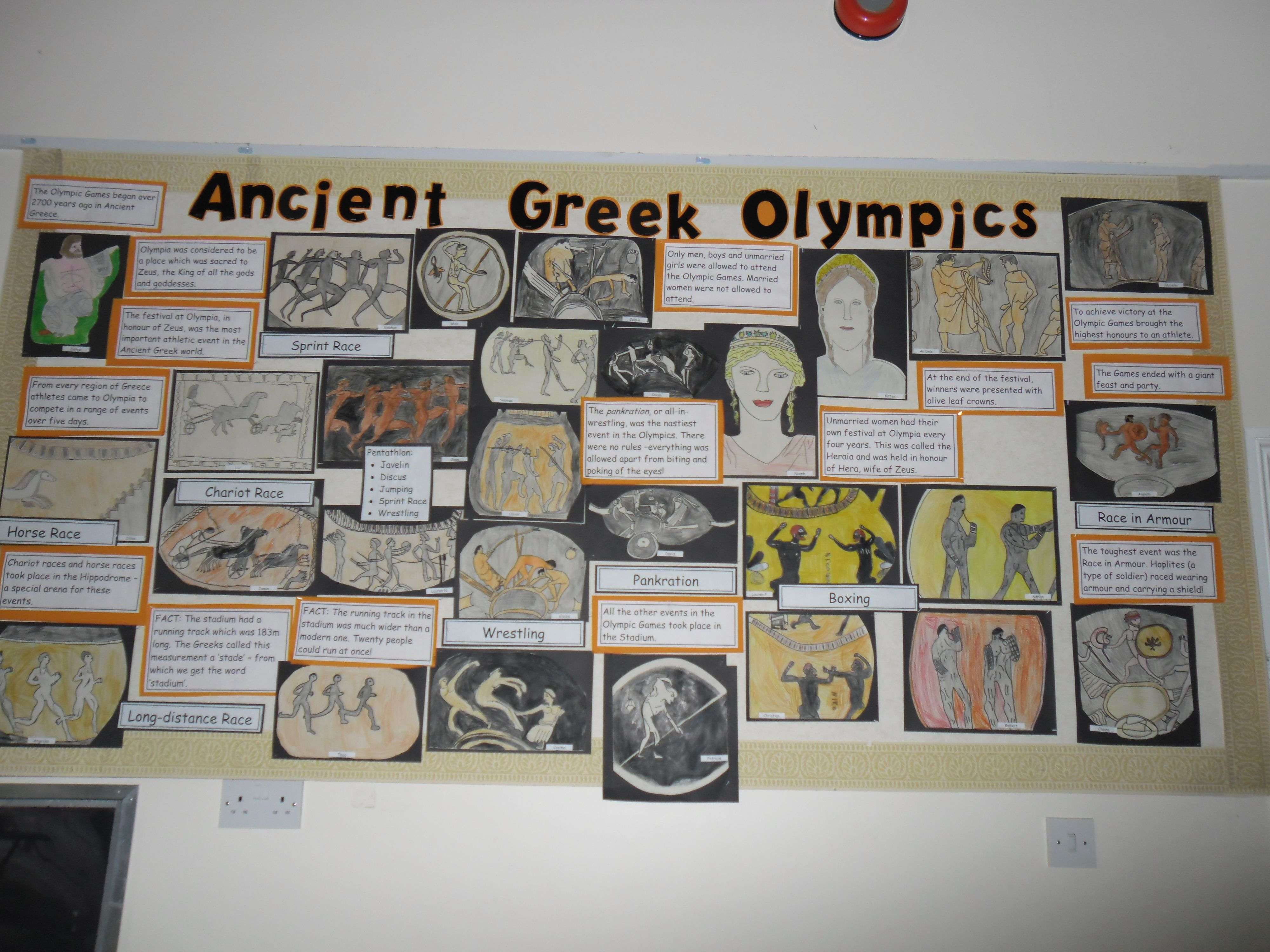 Ancient Greek Olympics Display