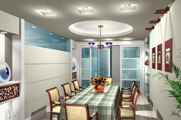LED Ceiling Light Fixtures: Dining Room With Interesting