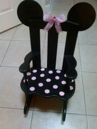 Child's rocking chair #Minnie#Mouse inspired DIY by ME