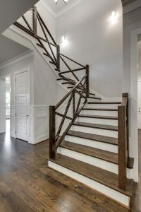 Make your stairs stand out! Cable wires and a dark wood ...
