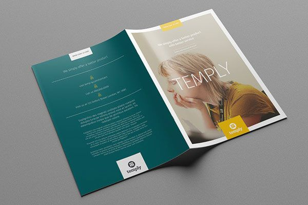 35 Beautiful Modern Brochure & Folder Design Ideas 2014