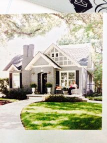 Tudor Cottage Style Front Porch