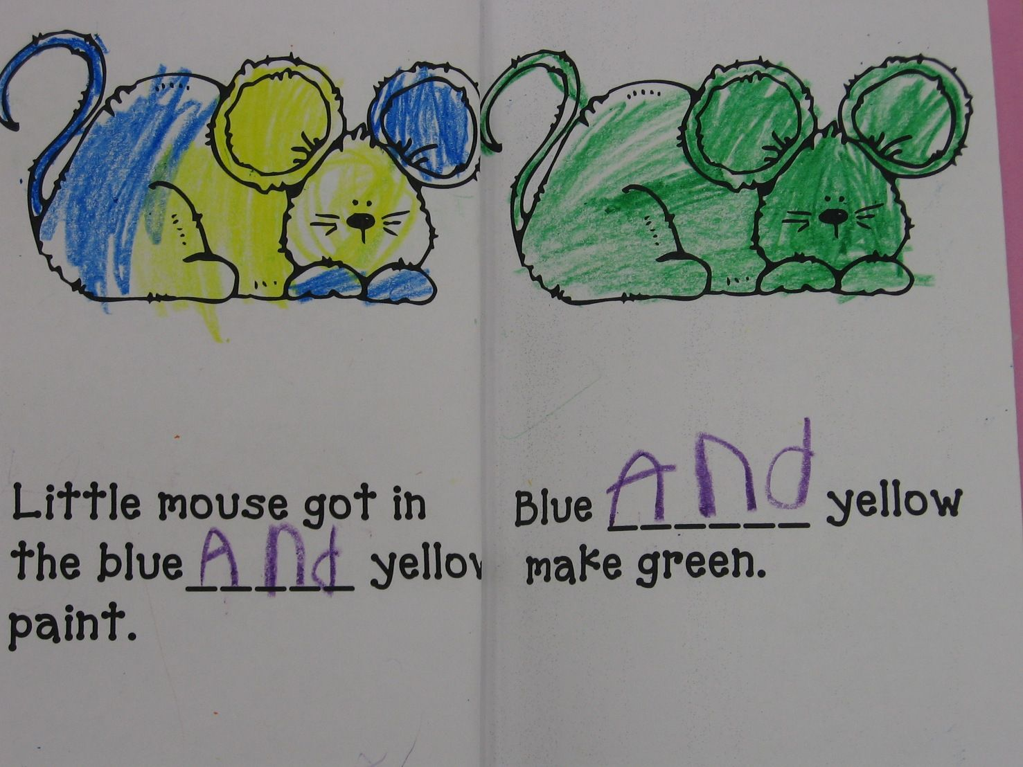 Mouse Paint Decodable Sight Word And Color Mixing