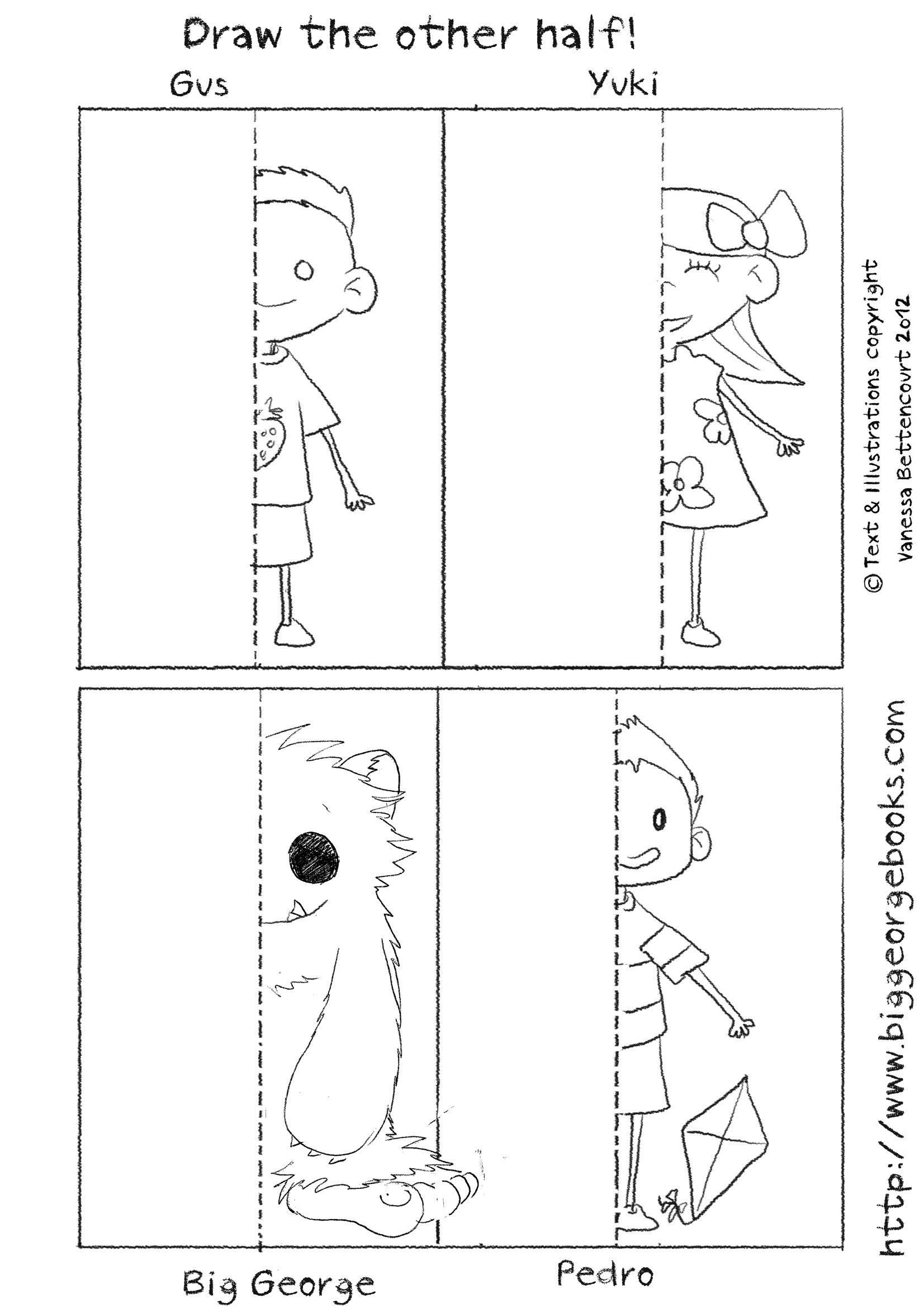 Draw The Other Half Download More Free Worsheets From The Site Drawingactivitiesforkids