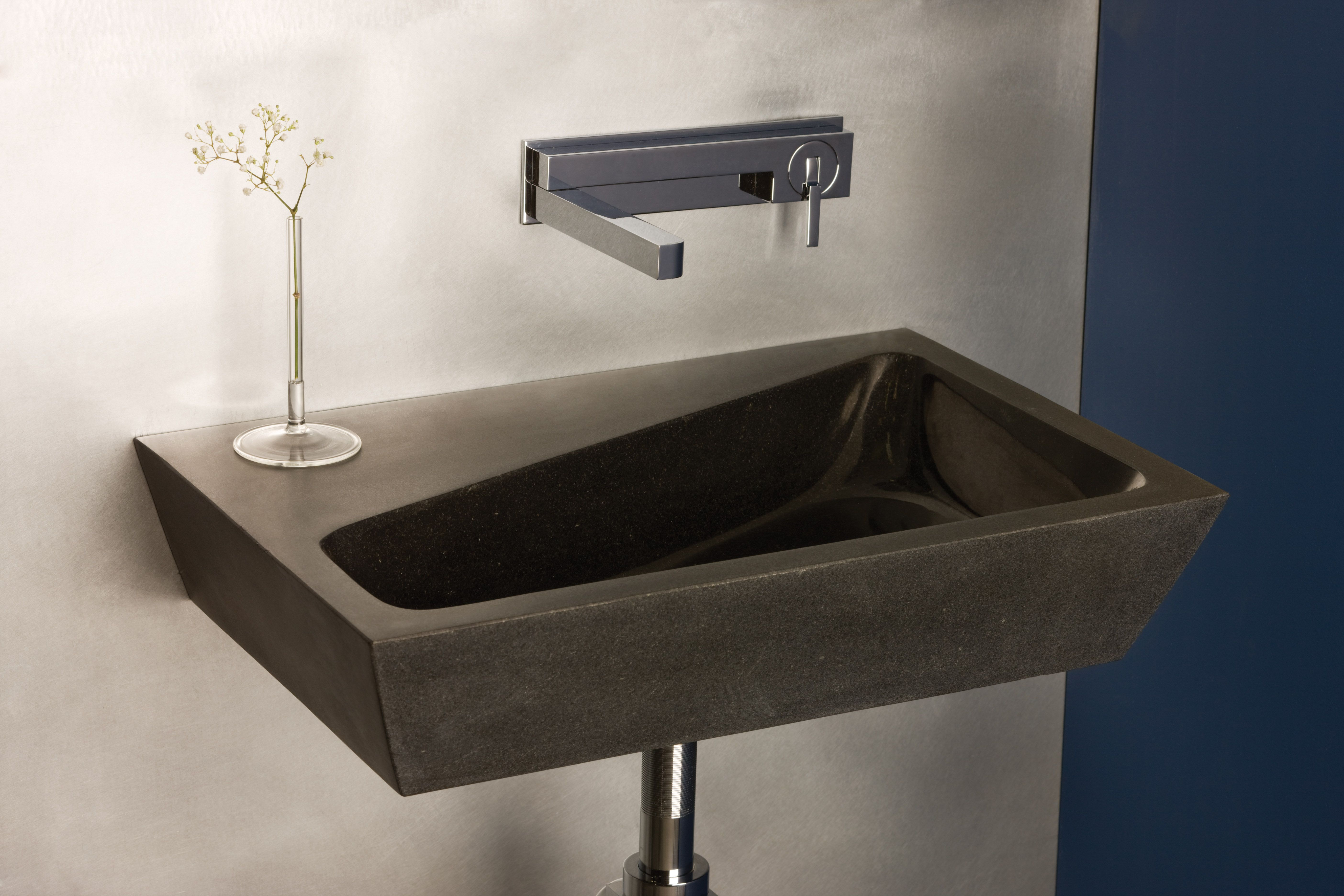 wall mounted kitchen sink how to replace cabinets the new stone forest 2tone mount derives its
