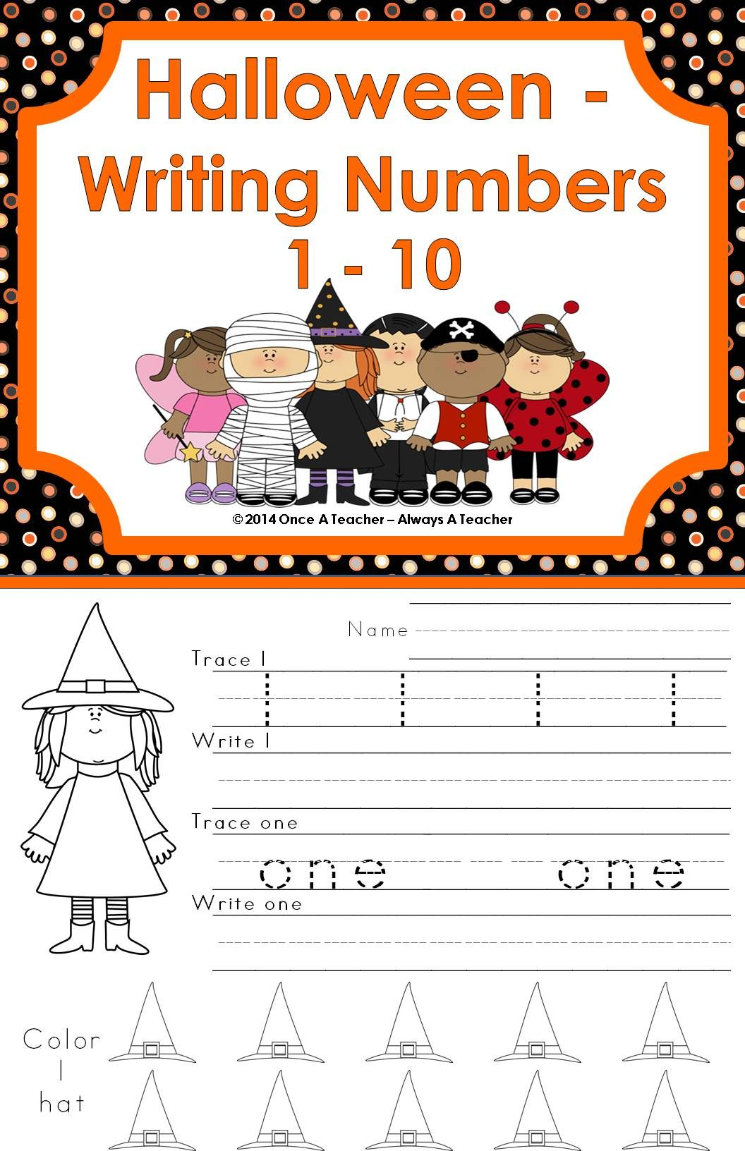 This Halloween Product Includes A Variety Of Number Skills