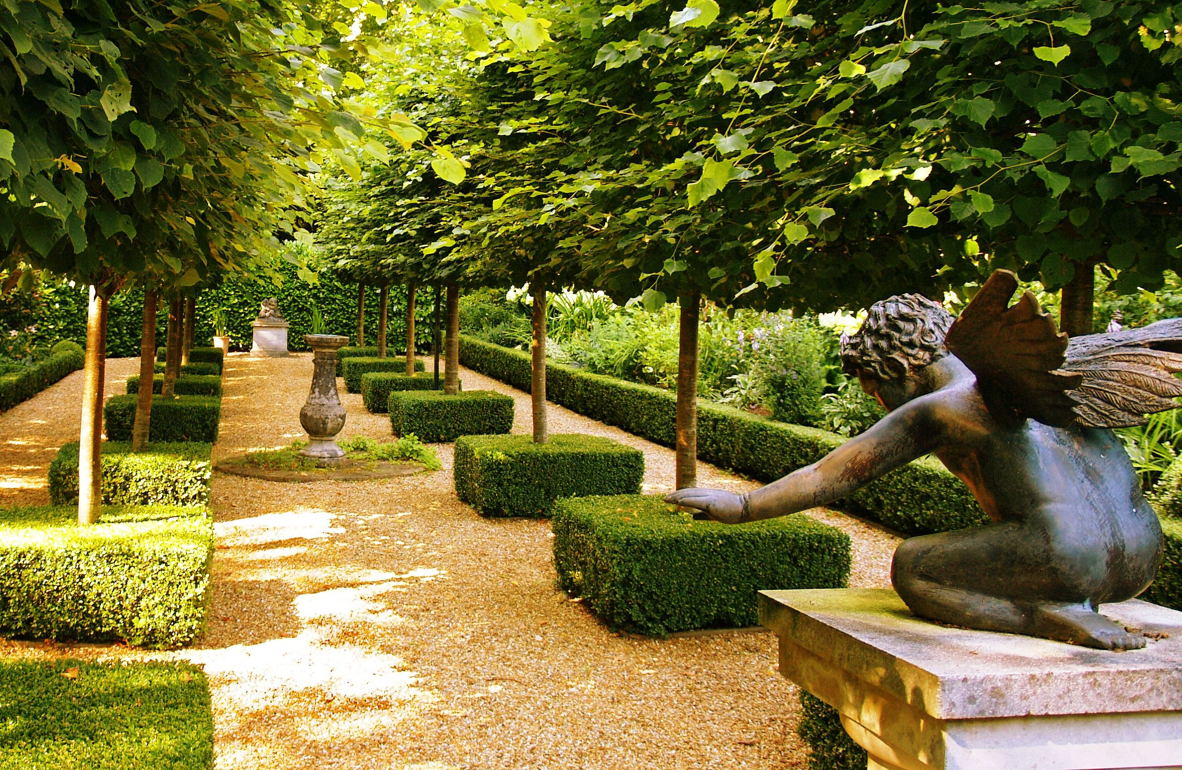 French Garden With Gravel And Boxwoods Gardening Pinterest