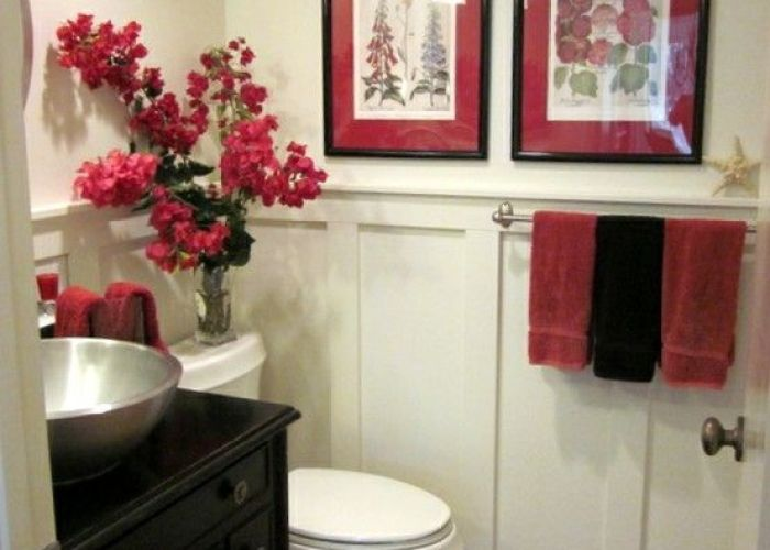 Red bathroom inspiration also home decor pinterest bathrooms