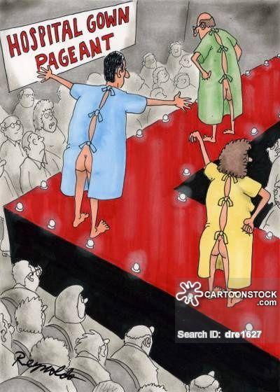 Hospital Gown Pageant Cartoonist Reynolds Dan