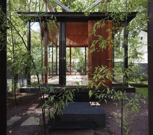 Meditation Room Shaped Like A Japanese Lantern Tea House By David