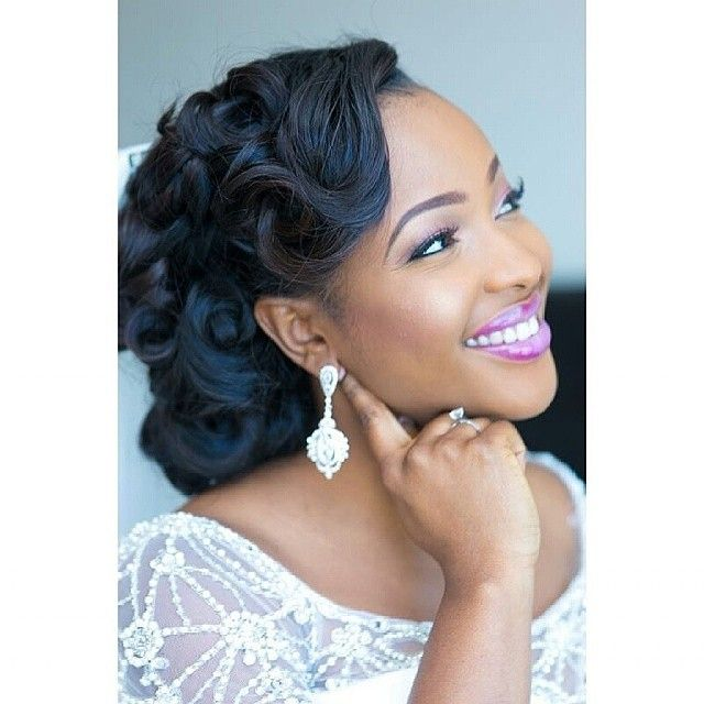 Black Women Wedding Hairstyles Updos The Big Day Pinterest
