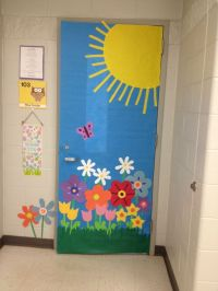 Spring door decorations classroom