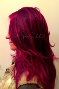 Hair color by Sara Reed using Pravana Vivids Wild Orchid ...