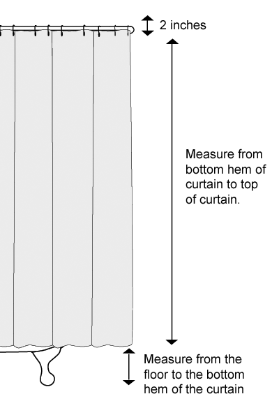 Diagram Measure Length Clawfoot Shower Curtain House Stuff
