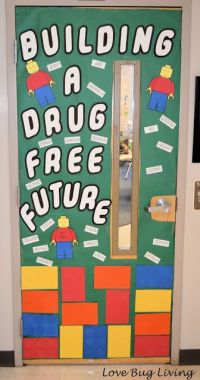 Red Ribbon Week door decoration with an anti-drug theme ...