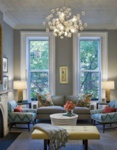 Benjamin moore coventry gray wall color pops against white with turquoise aqua furniture accents less feminine than sea mist or light also tips  tricks for choosing the perfect paint favorite spaces rh pinterest