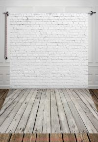 Photography Digital Printed Backdrop White Brick Wall with ...