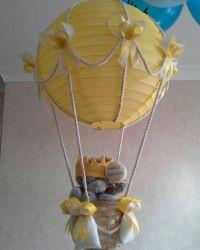 Hot Air Balloon light lamp shade with Tatty Teddy / por ...