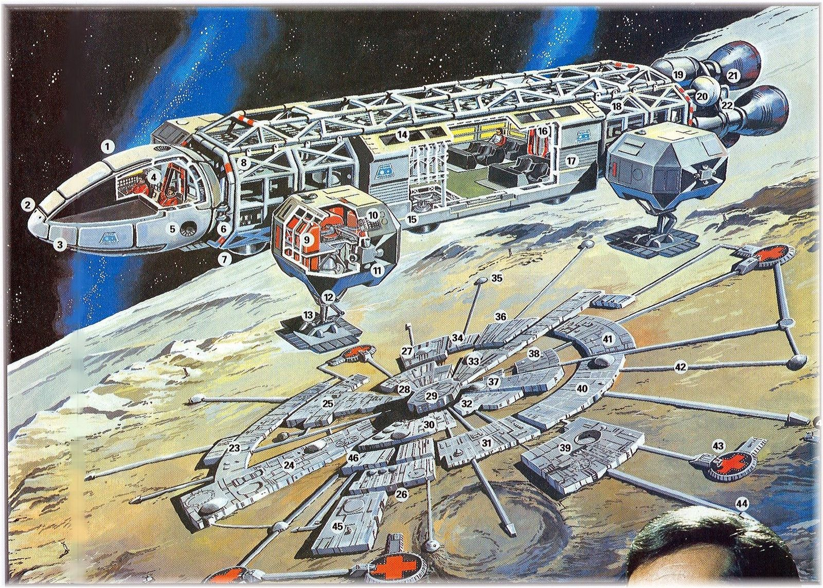 spaceship cutaway diagram kenwood ddx419 wiring space 1999 moonbase alpha map and eagle