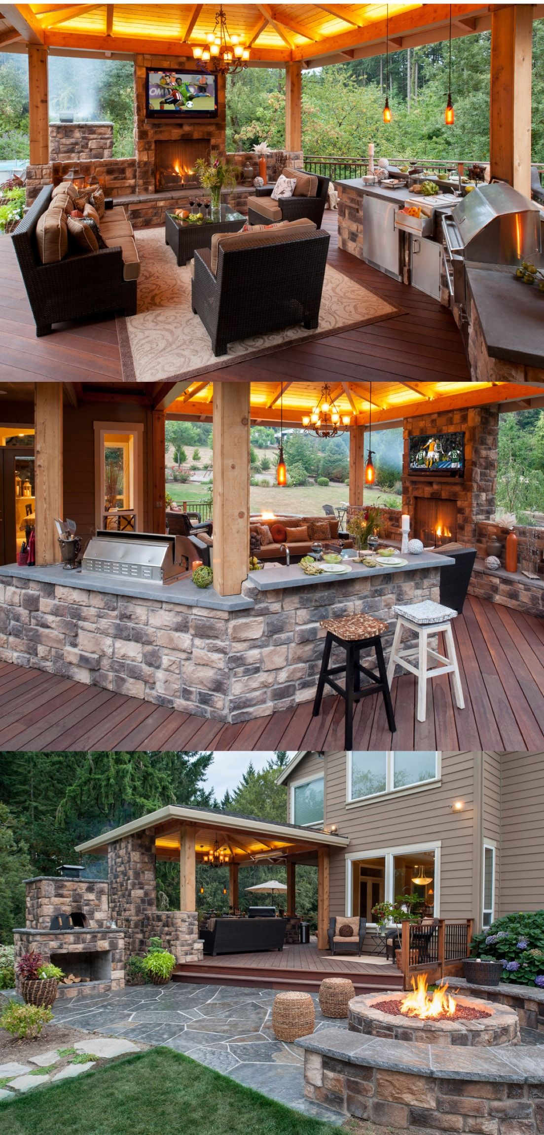 Amazing Outdoor Kitchen and Lounge  Bar Kitchens and Room