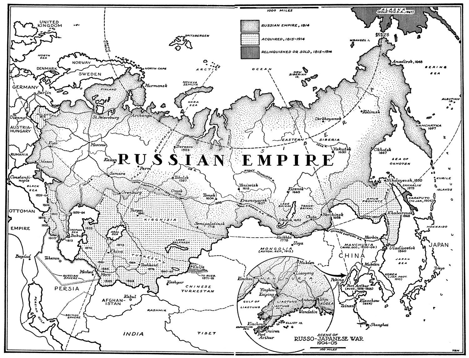 Map Of Russian Empire