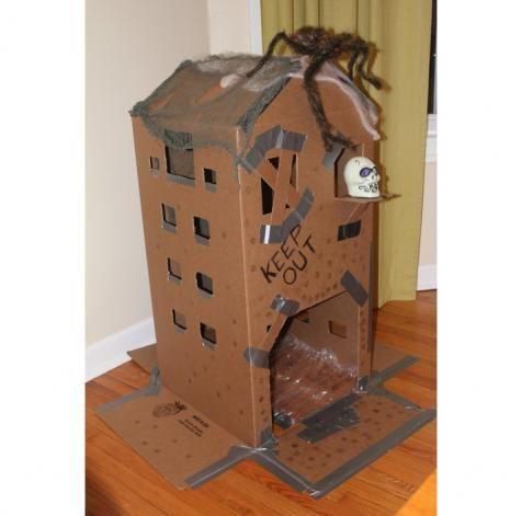 DIY Halloween DIY Cardboard Haunted House DIY Halloween Decor