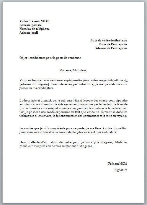 photo exemple lettre de motivation vendeur lettre de motivation