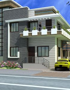 Front elevation of house design in india also oza pinterest indian rh