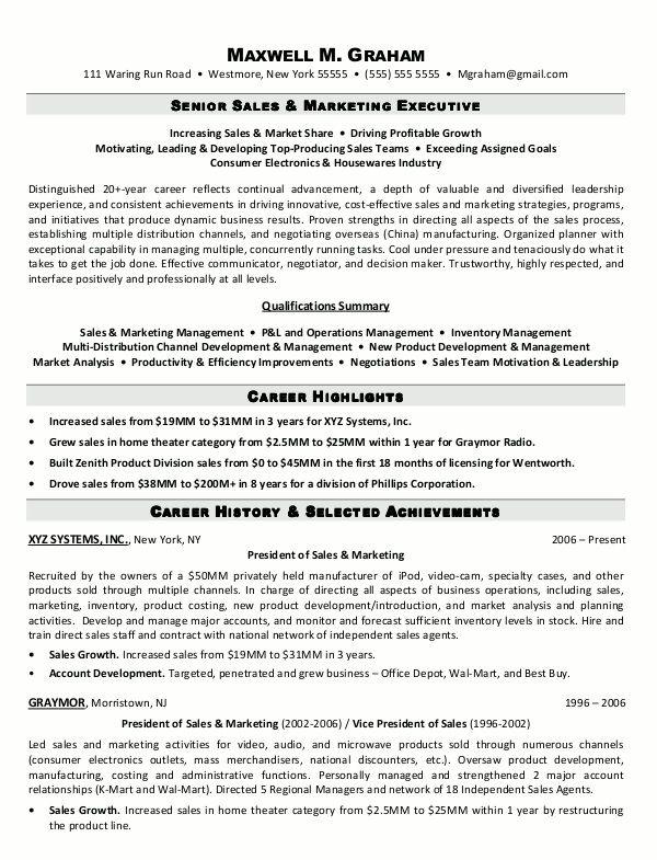 Sales Executive Resume Format Jobresumesample Com 1344