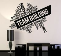 Vinyl Wall Decal Team Building Words Cloud Office Art