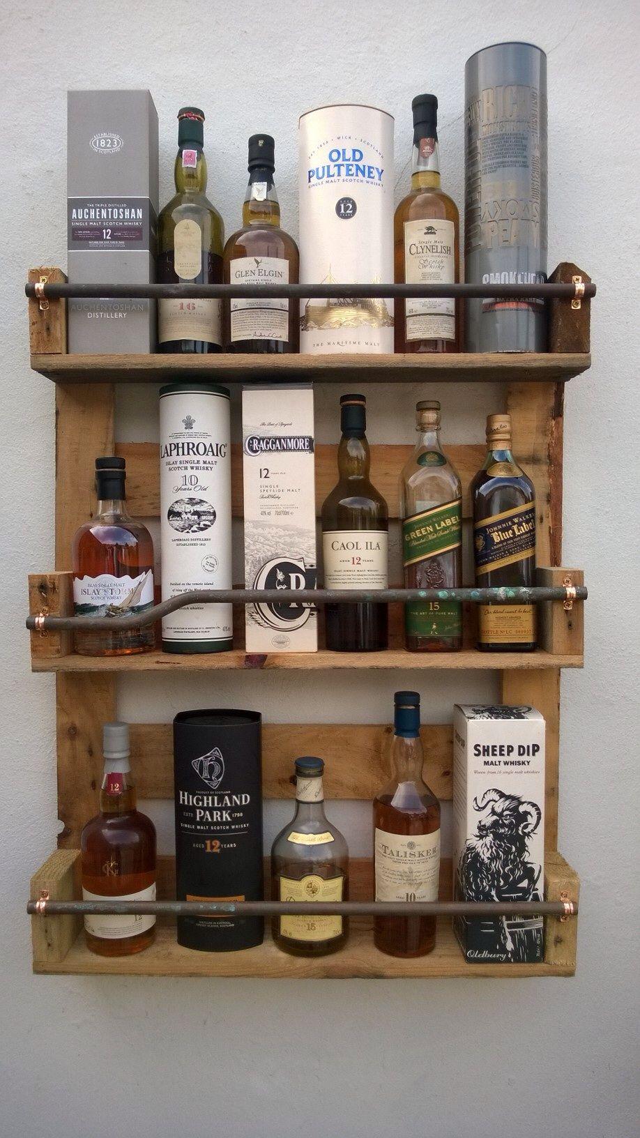 Pallet whiskey shelf