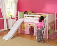 Girl Bunk Bed with Slides