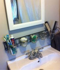 Mason Jar Bathroom Organizer. | Home Ideas | Pinterest ...