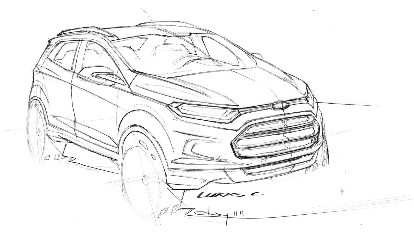 Ford Ecosport Concept Design Sketch
