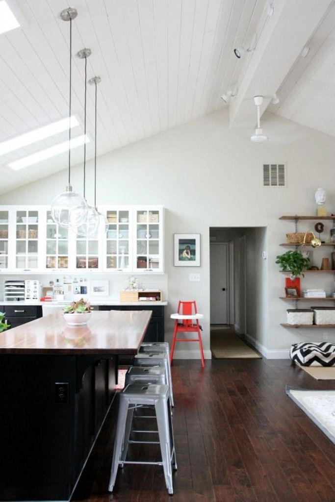 pendulum lights for kitchen pull down faucet vaulted ceilings - white or wood   ceilings, house ...