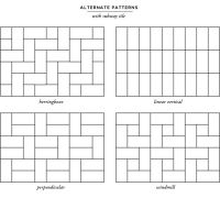 home progress: bathroom update & tile patterns | Subway ...